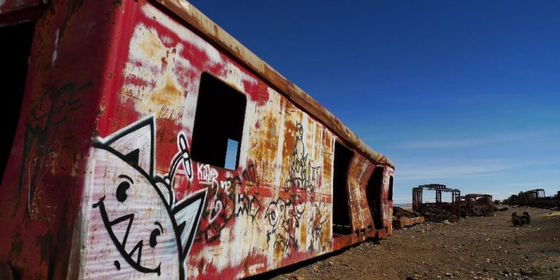 Bolivian Train Art
