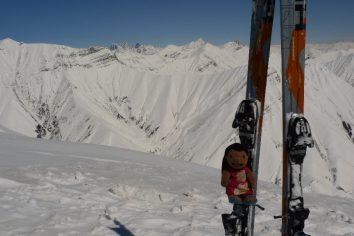 Swiss/German Snowboarding crew at Godauri (North Georgia)