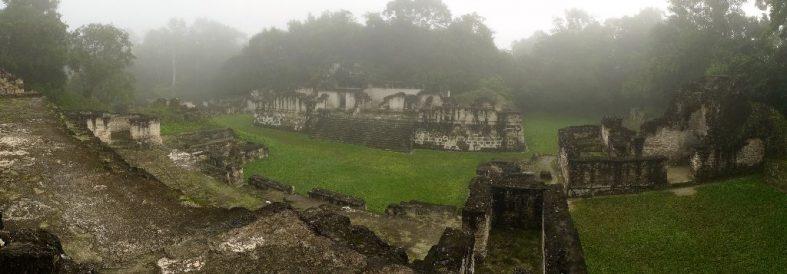 Panoramas of Tikal (Mayan Empire – Guatemala); 700 BC